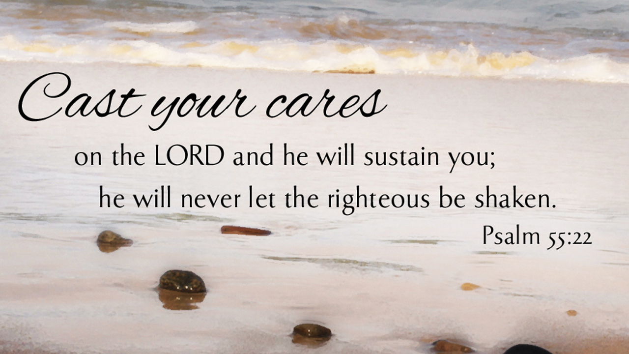 Psalm 55:22-bible verses about strength
